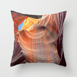 Geology Alive - Time Passage of Upper Antelope Canyon Throw Pillow