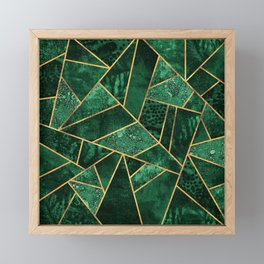Deep Emerald Framed Mini Art Print