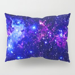 Fox Fur Nebula Galaxy blue purple Pillow Sham