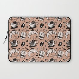 Coffee, tea and croissants for everyone! - Tan Laptop Sleeve
