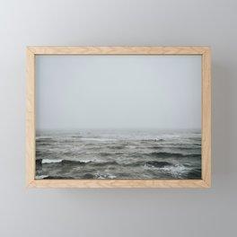 Prince Edward Island, Canada - Foggy Ocean Seascape Framed Mini Art Print