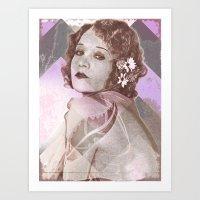 Betty Compson Eyes Art Print