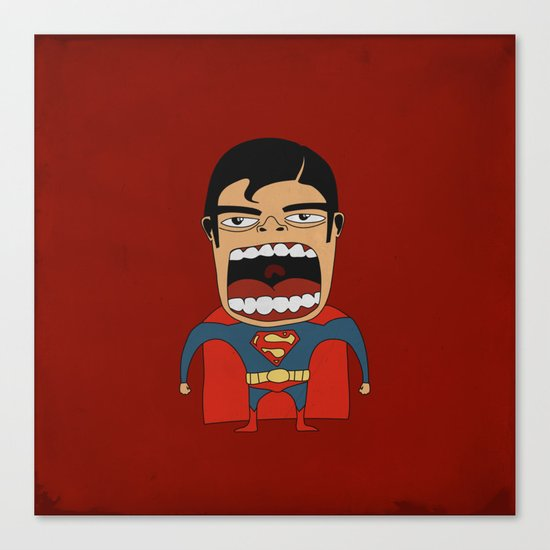 Screaming Superdude Canvas Print