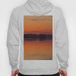 Evening Lakescape Orange Sunset Sky Reflection #decor #society6 #buyart Hoody