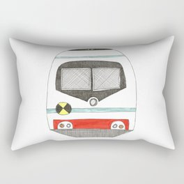 Retro Train Rectangular Pillow