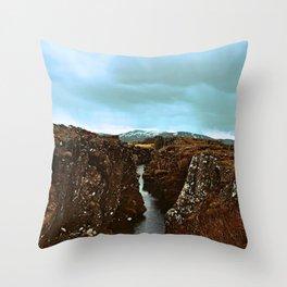 Sinuous Segments Throw Pillow