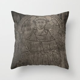 Monk mural Throw Pillow