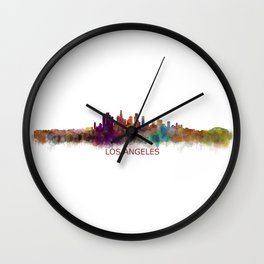 Los Angeles City Skyline HQ v2 Wall Clock