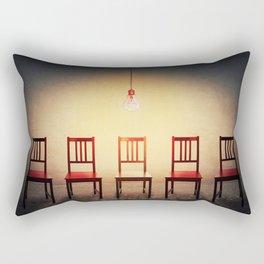 chairs row Rectangular Pillow