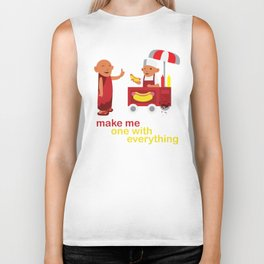 make me one with everything Biker Tank