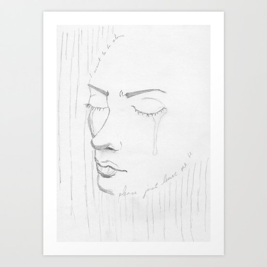 Leave me be Art Print