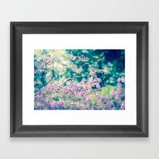 Bloom in Purple Framed Art Print