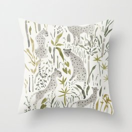 Grey Cheetahs Throw Pillow