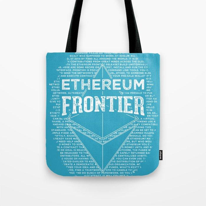 Ethereum Frontier (blue base) Tote Bag