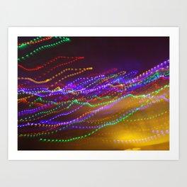 Dizzy Lights Art Print