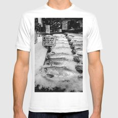 Pike Place Market Wild Salmon Catch Mens Fitted Tee MEDIUM White