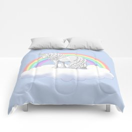 Rainbow Unicorn Gypsy Vanner Draft Horse Comforters