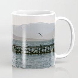 Calm sunset at Tromsø, Norway || Travel photography birds mountains wanderlust water explore Coffee Mug