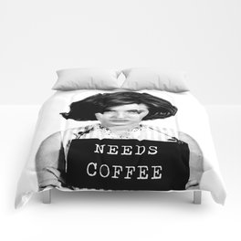 Needs Coffee - Morning Mugshot Comforters