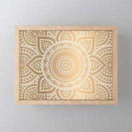 Gold Mandala 3 Framed Mini Art Print