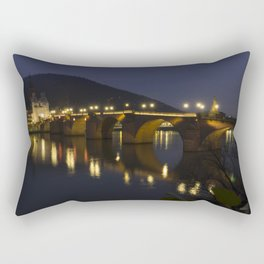 Heidelberg Bridge by night Rectangular Pillow