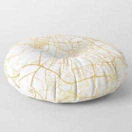 NEW DELHI INDIA CITY STREET MAP ART Floor Pillow
