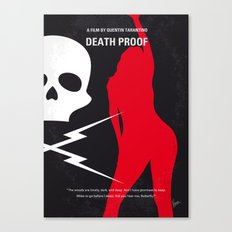 No018 My DeathProof minimal movie poster Canvas Print