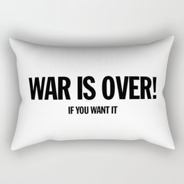 War Is Over - If You Want It -  John Lenon & Yoko Ono Poster Rectangular Pillow
