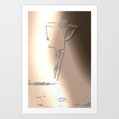 Woman Emerging (c) Art Print