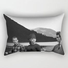 Collage Bande à part (Band of Outsiders) - Jean-Luc Godard Rectangular Pillow