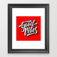Good Vibes 2016 Framed Art Print