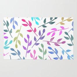 Colorful Leaves IV Rug