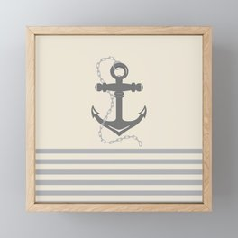 AFE Anchor and Chain Framed Mini Art Print