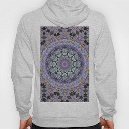 Purple Fox Flower Square Pattern Hoody