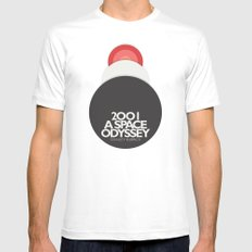 2001 a Space Odyssey - Stanley Kubrick ,Movie Poster, minimal version, vintage, retro White LARGE Mens Fitted Tee