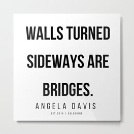 14   |  Angela Davis | Angela Davis Quotes |200609 Metal Print