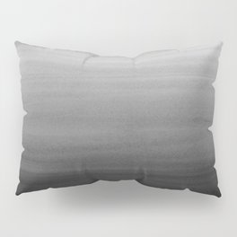 Touching Black Gray White Watercolor Abstract #1 #painting #decor #art #society6 Pillow Sham