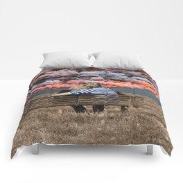 Volcano Eruption Comforters