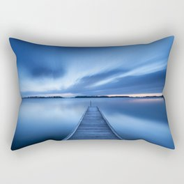 Jetty on a lake at dawn, near Amsterdam The Netherlands Rectangular Pillow