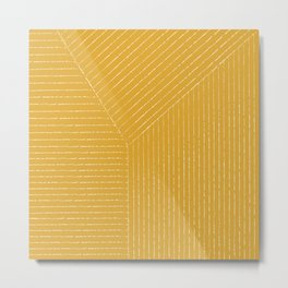 Lines (Mustard Yellow) Metal Print
