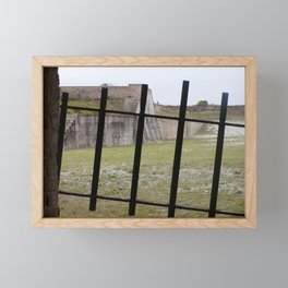 Behind Iron Gate in Fort Pickens Framed Mini Art Print
