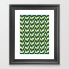 Broccoli and Cheese Mod Framed Art Print