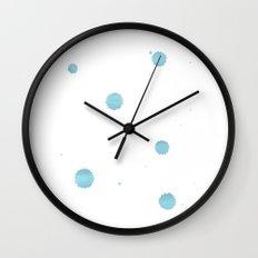Mint drops watercolor Wall Clock