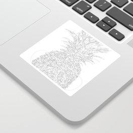 pineapple sophistication Sticker