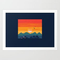 Back to the Wild West Art Print