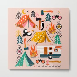 Camping Kit – Blush Palette Metal Print