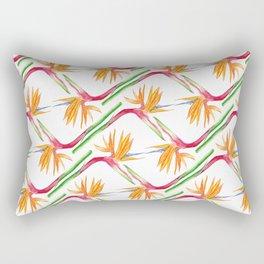 Bird of Paradise Print Rectangular Pillow