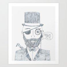 Upperclass Pirate Art Print