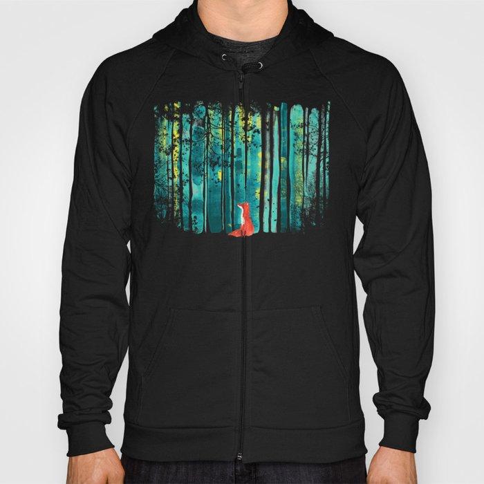 Fox in quiet forest Hoody