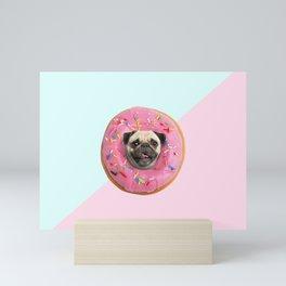 Pug Strawberry Donut Mini Art Print
